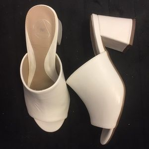 missguided white leather mules
